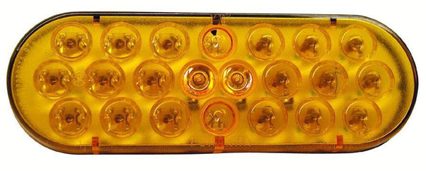 Peterson M2875A-P Amber Oval Piranha® LED Auxiliary Light