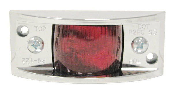 Peterson V122XR Red Vanguard II Chrome Clearance & Side Marker Light