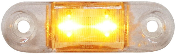 "Peterson 1268A-MVC Amber w/Clear LED SURFACE MOUNT OUTLINE  LIGHT OVAL ECE 2M LDS 2.75""X.75"" MULTI-VOLTAGE"