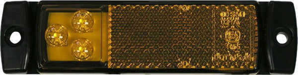 "Peterson 1203A Amber LED SM RECTANGULAR ECE W/ REFLECT LENS 5.11""x1.26"",MV - Levine Auto and Truck Lighting"