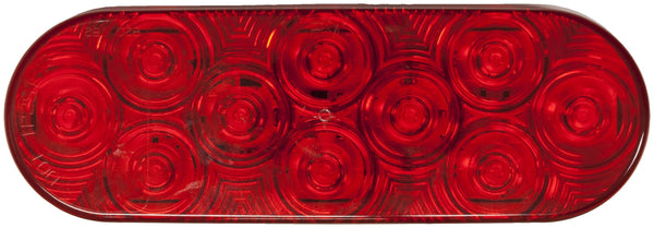 "Peterson 1220R-10 Red LED STOP /TURN /TAIL OVAL ECE AMP GROMMET MOUNT 6.5""x2.25"" MULTI-VOLTAGE"