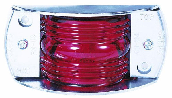 Peterson M119R Red Steel-Armored Clearance & Side Marker Light