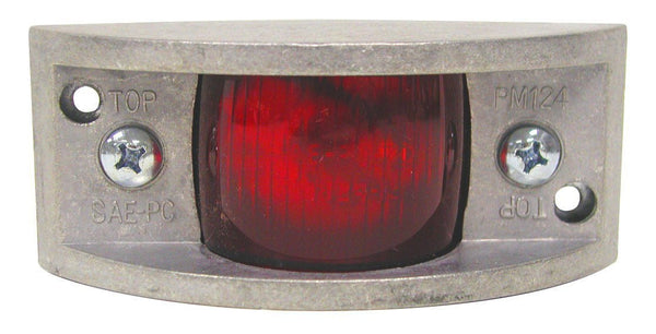 Peterson 124R Red Rectangular Clearance & Side Marker Light