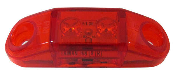 Peterson 168R Red Piranha® LED Slim-Line Mini Clearance & Side Marker Light