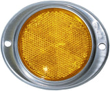 Peterson B472A Amber Aluminum Oval Reflector