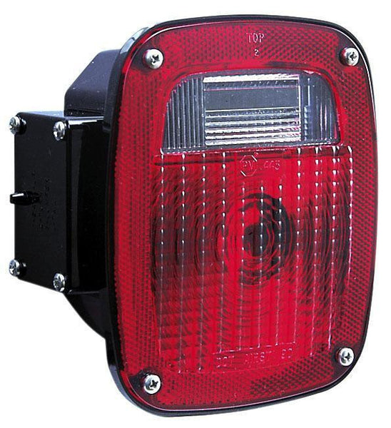 Peterson 442L Red Universal Three-Stud Combination Tail Light with License