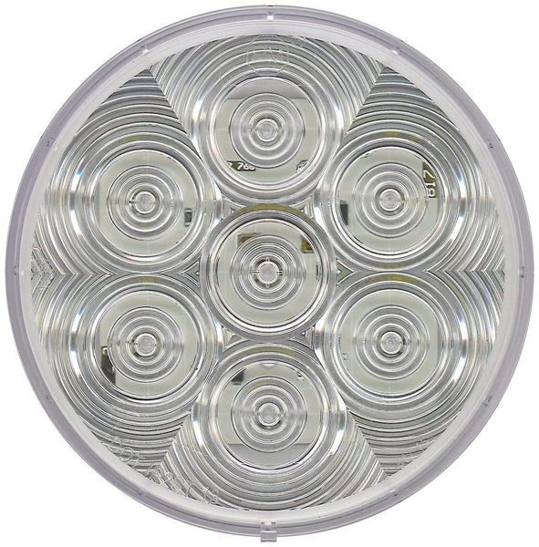 "Peterson V826KC-7 Clear 4"" Round LumenX® LED Back-Up Light Kit, PL3, Grommet Mount"