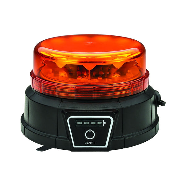Trux TLED-W12 Class 1 Wireless Beacon LED Warning Light w/ Remote (Vacuum Magnet)