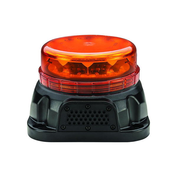Trux TLED-W13 Class 1 Beacon Low Profile LED Warning Light with Built-In Back Up Alarm (Permanent Mount)