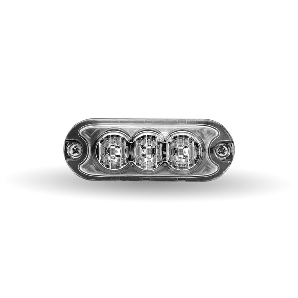 "Trux TLED-W13A24 Class 1 Directional 3 LED Slim Surface Mount Amber Strobe Light with ""L"" Bracket (36 Flash Patterns)"