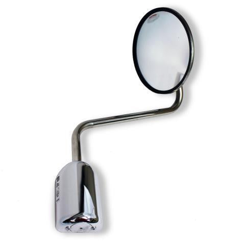 "Cham-Cal 60171 HD Stainless Steel 8.5"" Hood Mounted Truck Mirror"
