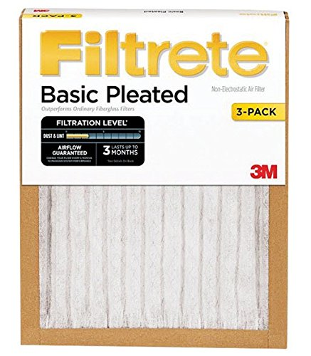 Filtrete Basic Air Filter 3M Pleated Furnace Pad - Fine Filters