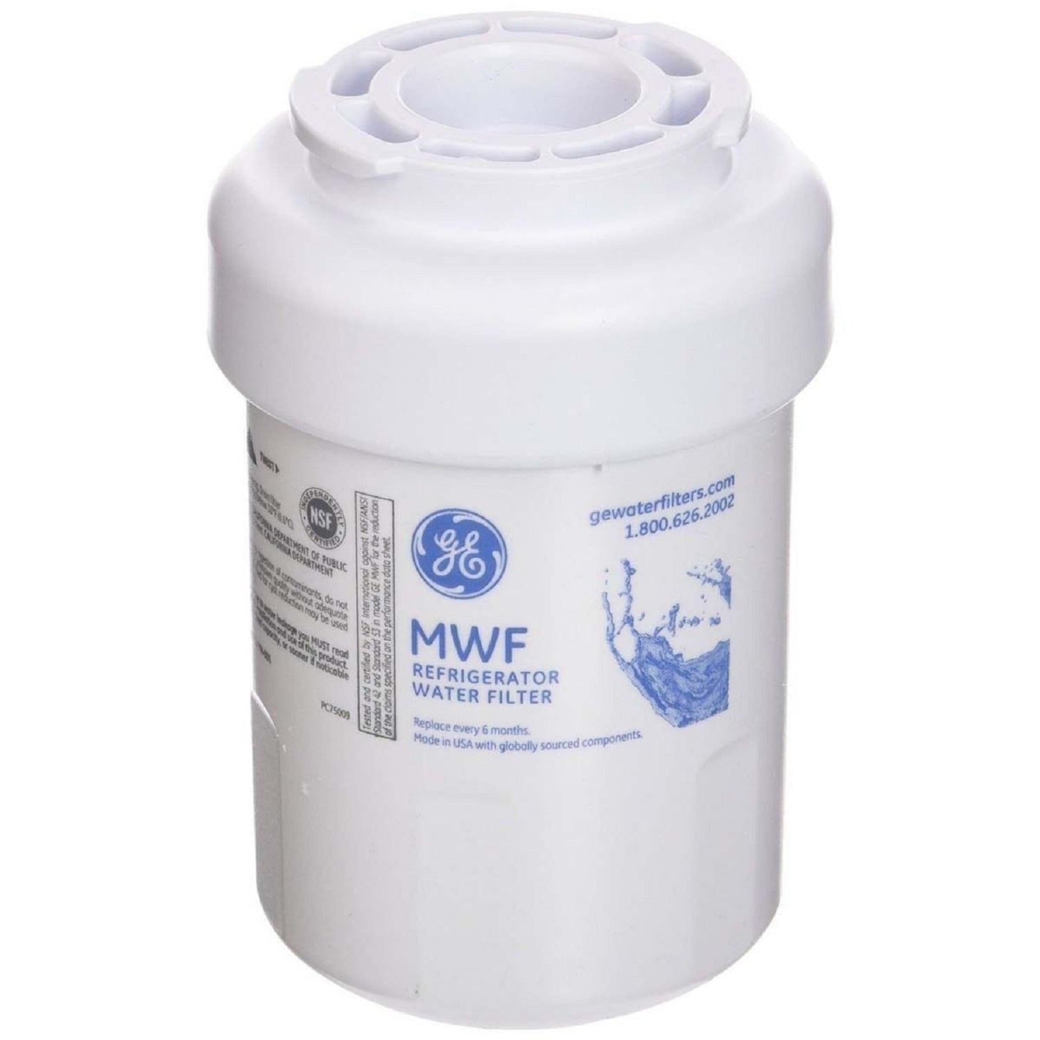 GE General Electric MWF Refrigerator Water Filter - Fine Filters
