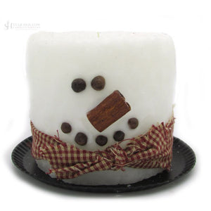 Electric Candle Snowman White