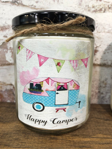 Happy Camper Quote Jar