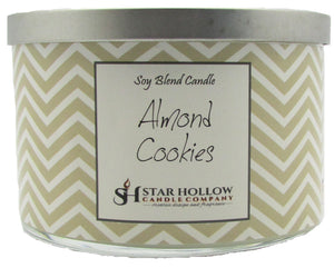 Large Silver Lid Jar Almond Cookies