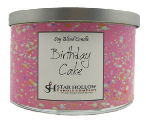 Large Silver Lid Jar Birthday Cake