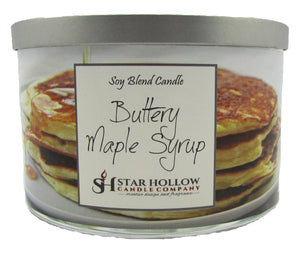 Large Silver Lid Jar Buttery Maple Syrup