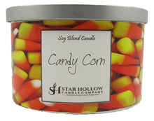 Large Silver Lid Jar Candy Corn