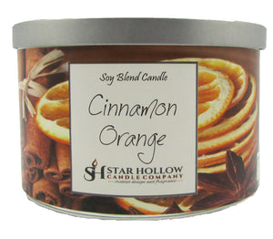 Large Silver Lid Jar Cinnamon Orange
