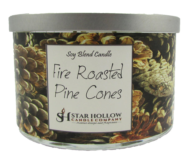Large Silver Lid Jar Fire Roasted Pinecones