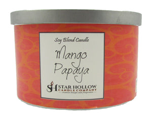 Large Silver Lid Jar Mango & Papaya