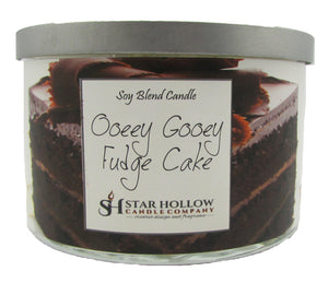 Large Silver Lid Jar Ooey Gooey Fudge Cake