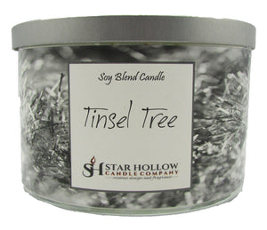 Large Silver Lid Jar Tinsel Tree