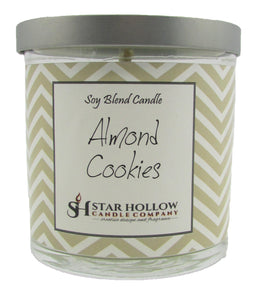 Small Silver Lid Jar Almond Cookies