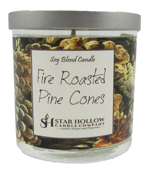 Small Silver Lid Jar Fire Roasted Pinecones