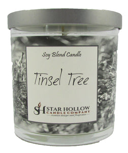 Small Silver Lid Jar Tinsel Tree