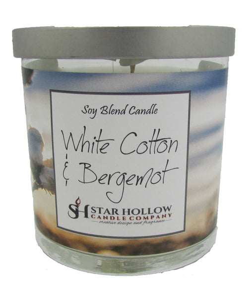 Small Silver Lid Jar White Cotton & Bergamot