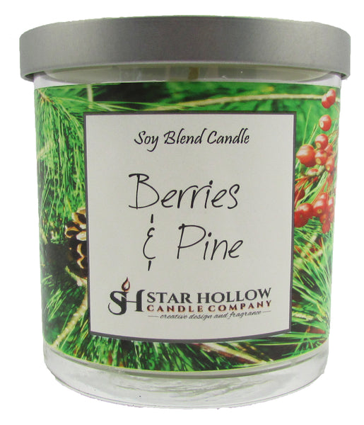 Small Silver Lid Jar Berries & Pine