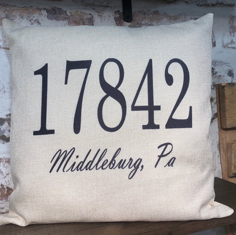 Custom Zip Code Pillow