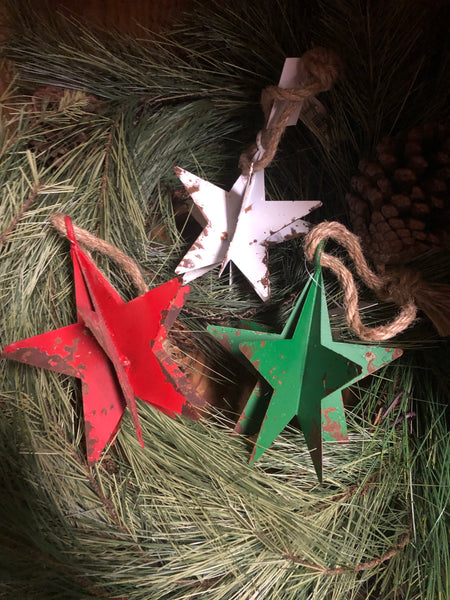 Metal Ornaments Snowflakes & Stars