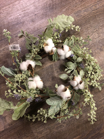Cotton candle ring