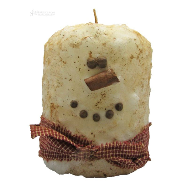 Large Hearth Fatty Snowman Primitive