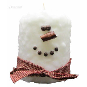 Large Hearth Fatty Snowman White