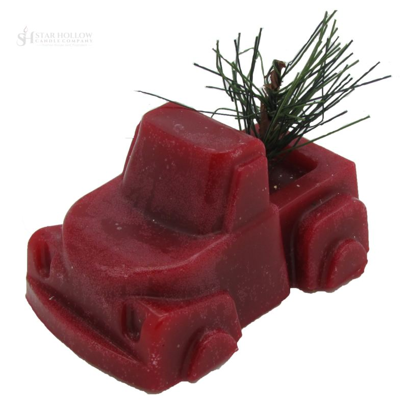 Truck With Tree Red