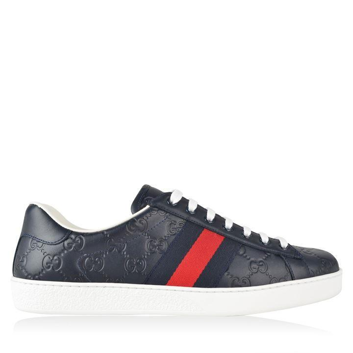 Gucci GUCCI New Ace Embossed Trainers SOLEHEAVEN