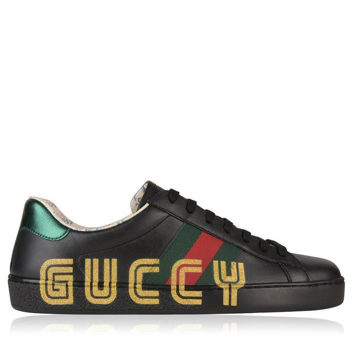 6a02b05f033 Gucci GUCCI New Ace Web Glitter Trainers at Soleheaven Curated ...