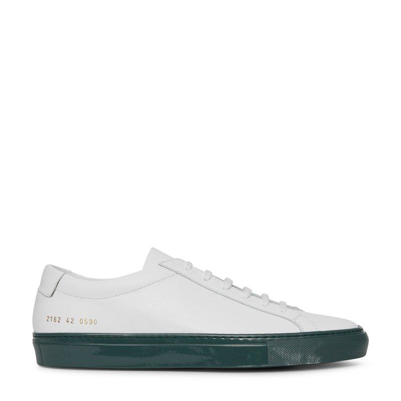 Common Projects Common Projects Original Achilles Low Colored Shiny Sole Sneakers SOLEHEAVEN