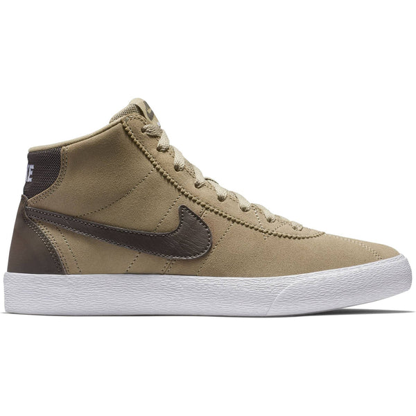 Nike SB Bruin Hi Womens Skate Shoes - Khaki/Ridgerock-White