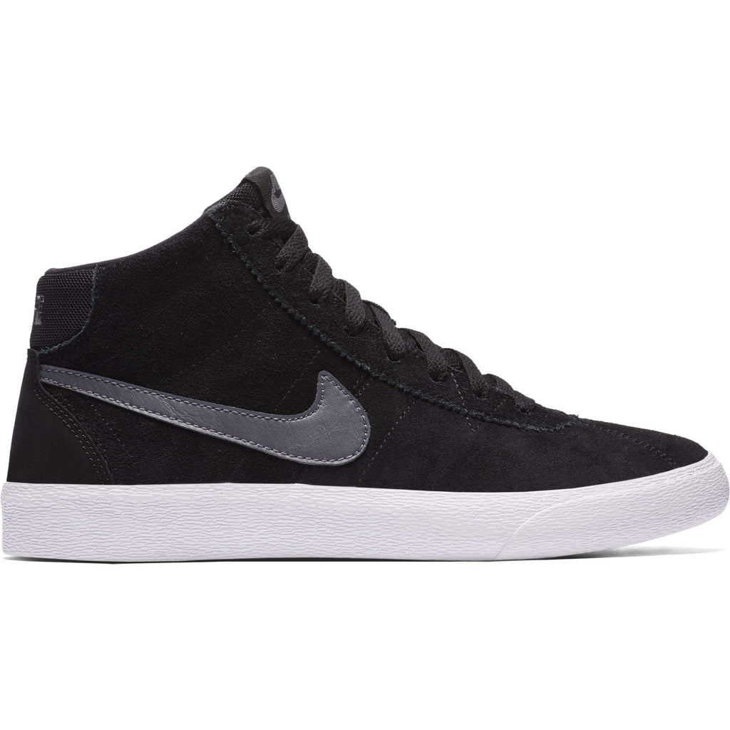 Nike SB Nike SB Bruin Hi Womens Skate Shoes - Black/Dark Grey SOLEHEAVEN