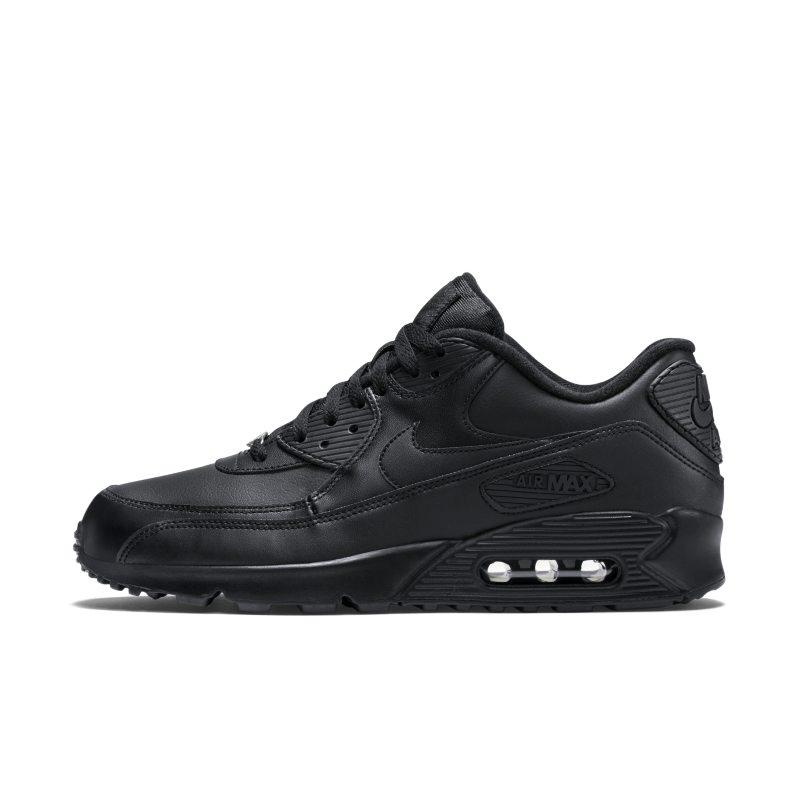 Nike Nike Air Max 90 Leather Men's Shoe - Black SOLEHEAVEN