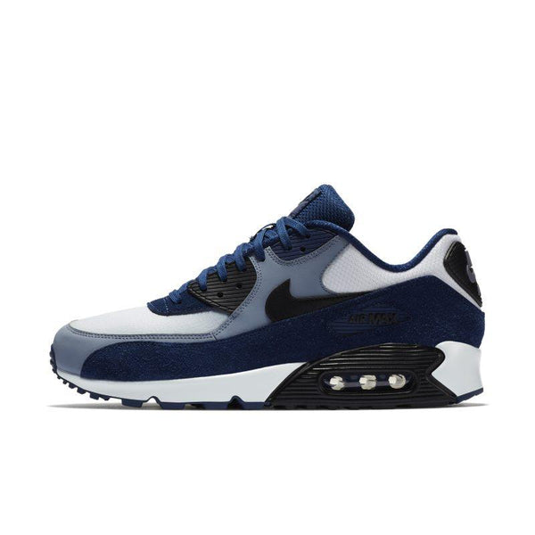 Nike Nike Air Max 90 Leather Men's Shoe - Blue SOLEHEAVEN