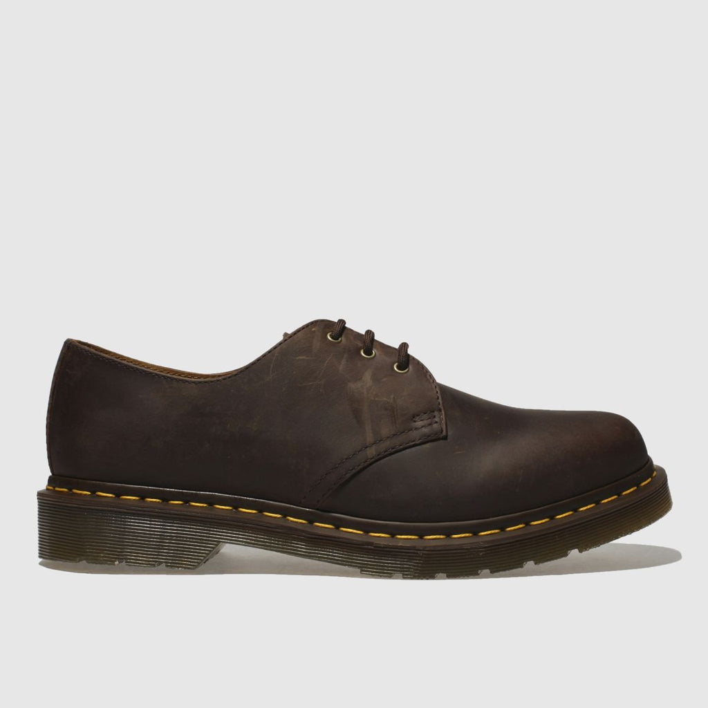 Dr Martens Dr Martens Brown 1461 Crazyhorse Shoes SOLEHEAVEN