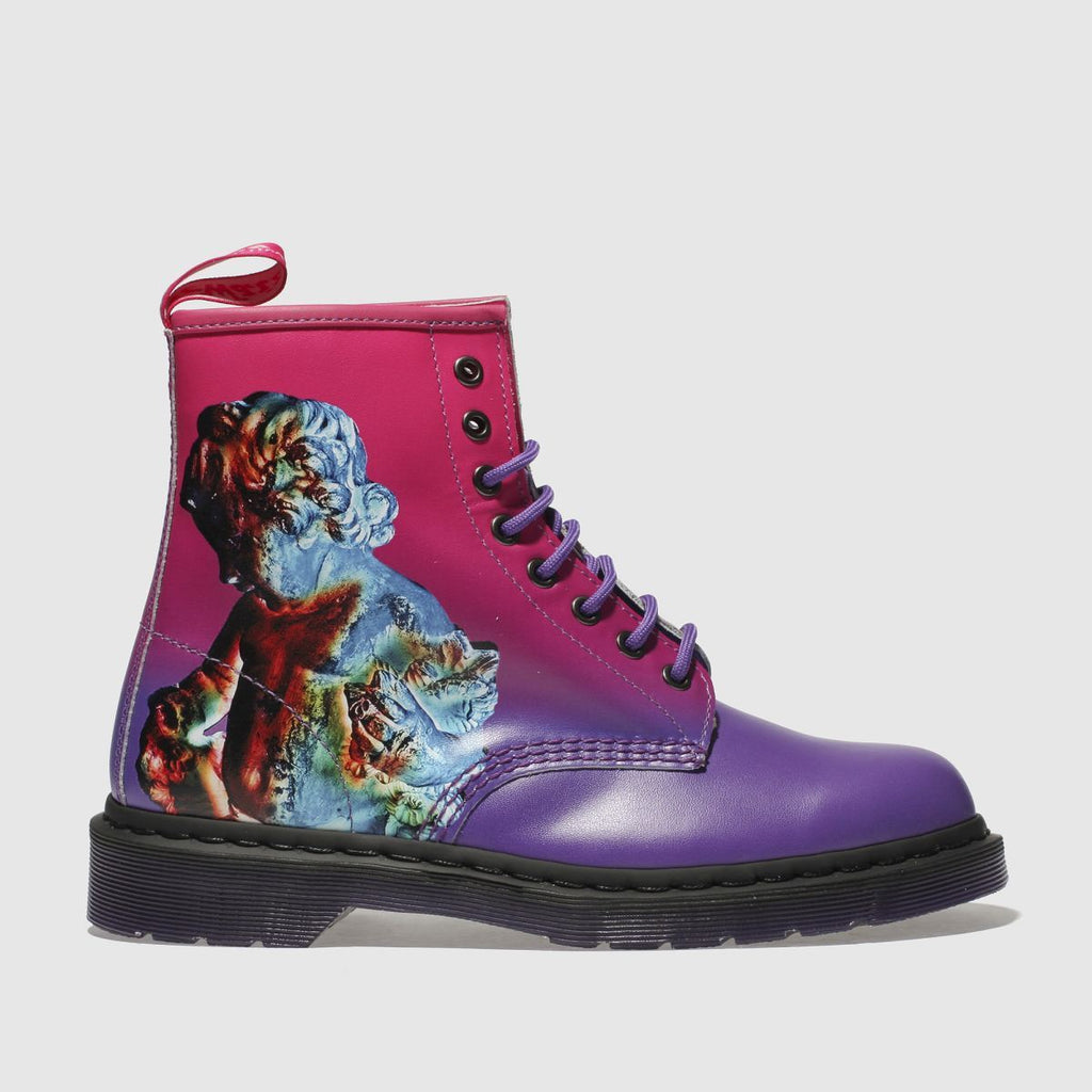 Dr Martens Dr Martens Pink & Purple 1460 Technique 8 Eye Boots SOLEHEAVEN