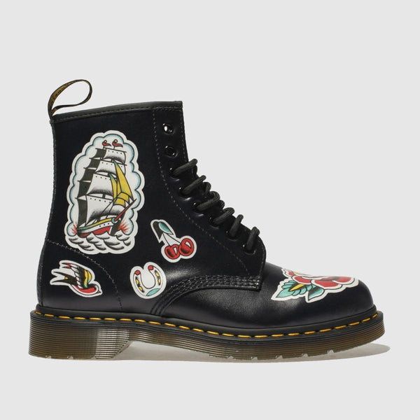 Dr Martens Dr Martens Black & Red 1460 Chris Lambert 8 Eye Boots SOLEHEAVEN