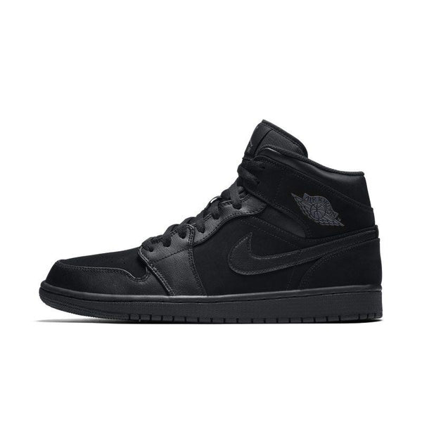 Air Jordan 1 Mid Men's Shoe - Black